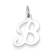 Sterling Silver Stamped Initial B Charm