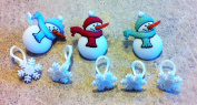 Holiday Snowman Snowflake Charms for Rainbow Loom