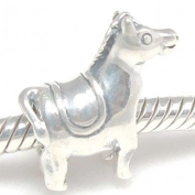 Ride My Pony Horse with Saddle Charm .925 Sterling Silver Bead Charm Pandora Chamilia Biagi & European Bracelets Compatible