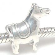 Ride My Pony Horse with Saddle Charm .925 Sterling Silver Bead Charm Pandora Chamilia Biagi & European Bracelets Compatible