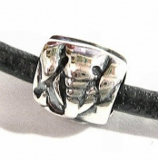 Sterling Silver Elephant Focal Bead Bead Charm for Pandora Troll European Story Charm Bracelets Jewellery