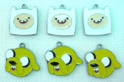 15 PC Adventure Time Cute Mixed Lot of Charms - DIY Jewellery Crafting 8mm Enamel Pendants