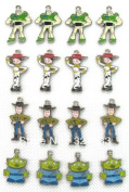 15 PC Toy Story Mixed Lot of Charms - DIY Jewellery Crafting 8mm Enamel Pendants
