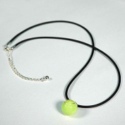 Large Tennis Ball Snake Chain Charm Necklace