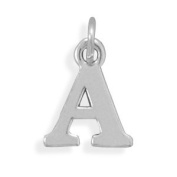 Letter A Charm Sterling Silver - Made in the USA