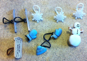 Holiday Snowman Charms for the Rainbow Loom Rubberband Bracelets set of 10