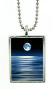 Blue Moon for Unexpected Gains Photo Image Pendant Charm Amulet Talisman By Starlinks