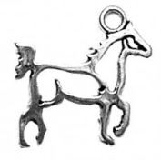 Sterling Silver Small Cutout Silhoutte Walking Horse Animal Charm
