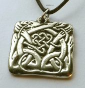 Celtic Hounds - Pewter Pendant - Knotwork Jewellery, Dogs, Norse Necklace