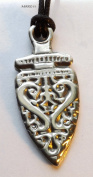 Celtic Dragon Dancer - Pewter Pendant - Norse Knotwork Jewellery