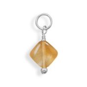 Citrine Charm - November Birthstone 925 Sterling Silver