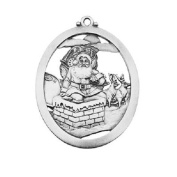 Hampshire Pewter - Santa Going Down Chimney