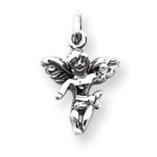 Sterling Silver Antiqued Angel Charm