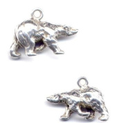 Gift Boxed Sterling Silver Polar Bear Charm Arctic Animal Jewellery