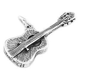 Sterling Silver Acoustic Guitar Charm