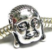 Sterling Silver Buddha Sakyamuni Bead for European Charm Bracelets