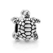 925 Sterling Silver Cute Turtle Bead Charm Fits Pandora Bracelet