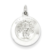 Sterling Silver Holy Communion Medal. Metal Wt- 1.2g