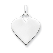 Sterling Silver Polished Heart Charm