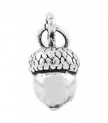 Sterling Silver Three Dimensional Oak Tree Acorn Charm
