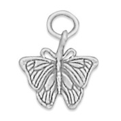 13x13mm Small Butterfly Charm .925 Sterling Silver