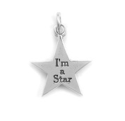 18.5mm I'm A Star Star Charm .925 Sterling Silver