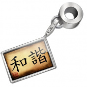 "Neonblond Bead/Charm ""Chinese characters, letter ""Harmony"" - Fits Pandora Bracelet"
