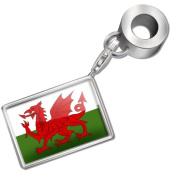 "Neonblond Bead/Charm ""Wales (Cymru)"" Flag region"