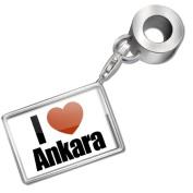"""Neonblond Bead/Charm """"I Love Ankara"""" region"""