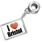 "Neonblond Bead/Charm ""I Love Bristol"" region"