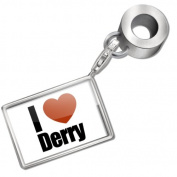 "Neonblond Bead/Charm ""I Love Derry"" region"