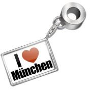 "Neonblond Bead/Charm ""I Love Munich / München"" region"