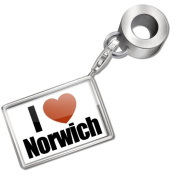 "Neonblond Bead/Charm ""I Love Norwich"" region"