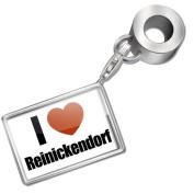 "Neonblond Bead/Charm ""I Love Reinickendorf"" region"
