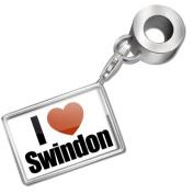 "Neonblond Bead/Charm ""I Love Swindon"" region"