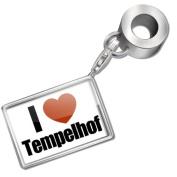 "Neonblond Bead/Charm ""I Love Tempelhof"" region"