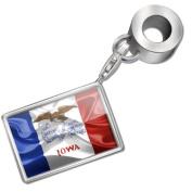 "Neonblond Bead/Charm ""Iowa"" 3D Flag region"