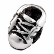 Silverado Kidz Silver Baby Shoe Bead Charm for Kids