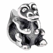 Silverado Kidz Silver Snap Crocodile Bead Charm for Kids