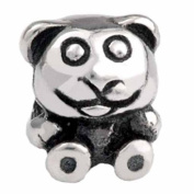 Silverado Kidz Silver Teddy Bear Bead Charm for Kids