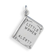 16x13mm Little Women Book Charm .925 Sterling Silver