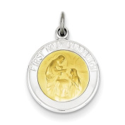 Sterling Silver & Vermeil Holy Communion Medal