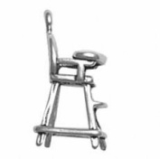 Sterling Silver 3D Baby High Chair Charm
