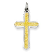 Sterling Silver & 18k Gold -Plated Cross Charm