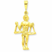 Genuine 14K Yellow Gold Libra Zodiac Charm 3.3 Grammes Of Gold