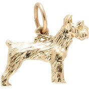 Rembrandt Charms Schnauzer Charm, 10K Yellow Gold