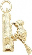 Rembrandt Charms Woodpecker Charm, 10K Yellow Gold