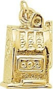 Rembrandt Charms Jackpot Charm, 10K Yellow Gold