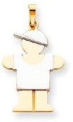Boy with Cap Charm, Yellow/White Gold