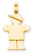 Boy with Cap Charm, Yellow Gold